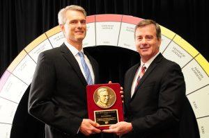 Jon Bancks, 2018 John B. Northcott Award Winner, and Tim Stiles, UWECI President and CEO