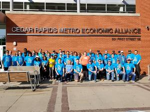City of Cedar Rapids, Economic Alliance, Downtown District, and Whirlpool employees